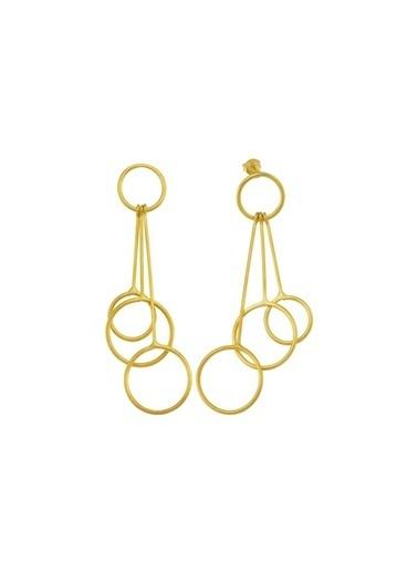 Bendis Design Çubuk Halka Küpe Altın